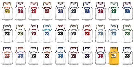 american cities: Shirts of American Basketball Cities