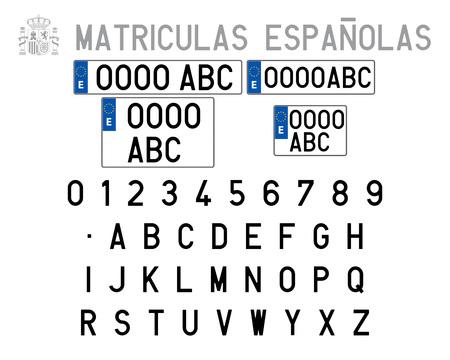 Spanish License Plates