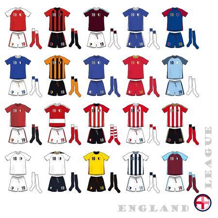 English Football Kits Illustration
