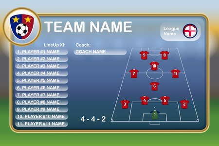 Football Lineup Eleven 向量圖像