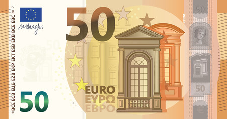New 50 Euros Bill Vectores