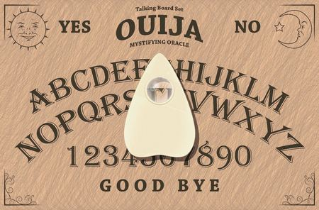 The Ouija board Stock Illustratie