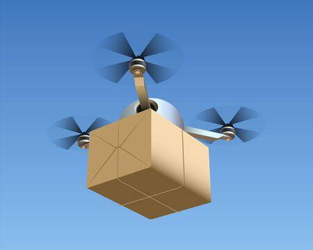 Drone with package