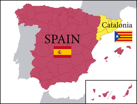 Map of Spain with Independent Catalonia.