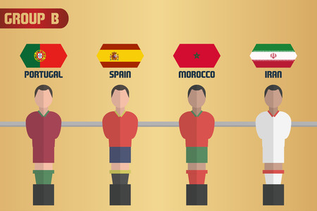 Table Soccer Russia Group B Stock Illustratie