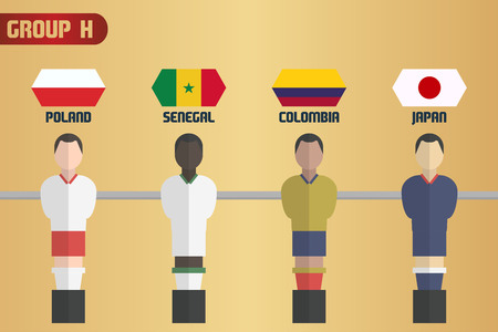 Table Soccer Russia Group H Illustration