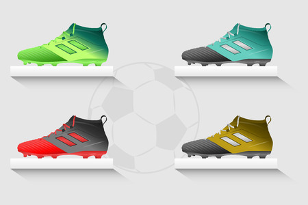 Football Boots Set illustration graphic design.