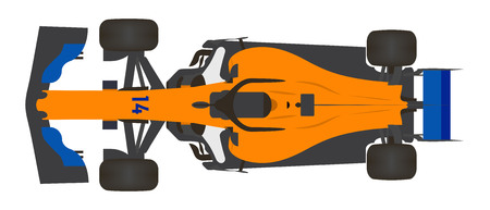 Orange Racing Car Stock Illustratie