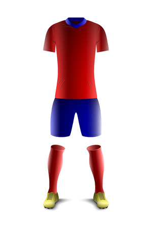 Red and Blue Soccer Uniform Template