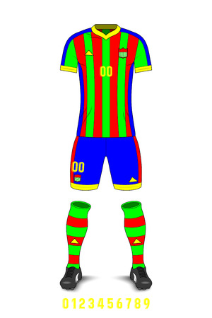 Soccer Uniforms Template on plain background