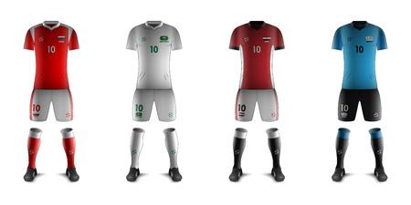 Generic Kits of Soccer National Teams Ilustração
