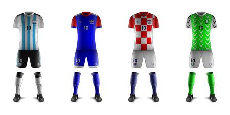 Generic Kits of Soccer National Teams D Illustration