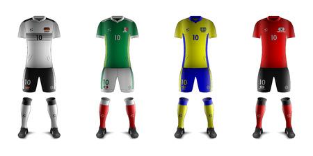 Generic Kits of Soccer National Teams F