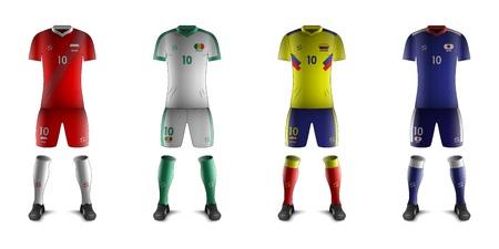 Generic Kits of Soccer National Teams H