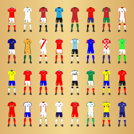 Set of Generic Kits of Soccer National Teams