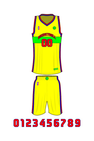 Basketball Uniforms Template vector illustration.