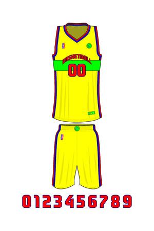 Basketball Uniforms Template vector illustration.
