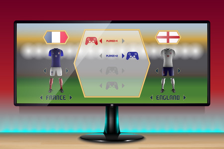 Soccer Game in a Ultrawide Gaming Monitor