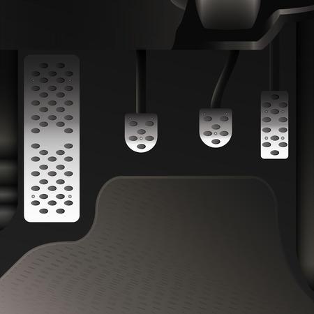 Pédales de voiture en aluminium Vecteurs