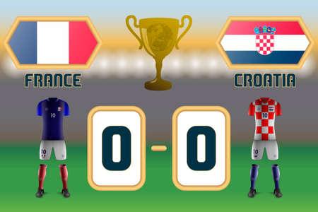 Soccer Cup Final 2018 Reklamní fotografie