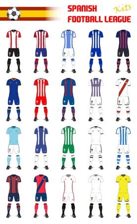 Spanish Football League Generic Kits 向量圖像