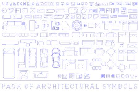 Pakje architecturale symbolen