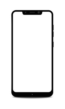 Smartphone with Blank Notch Display Illustration