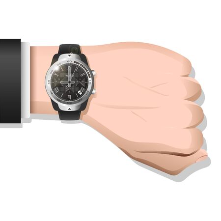 Luxury Watch Placed on Wrist Illustration