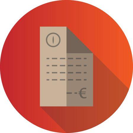 Invoice Icon 矢量图像