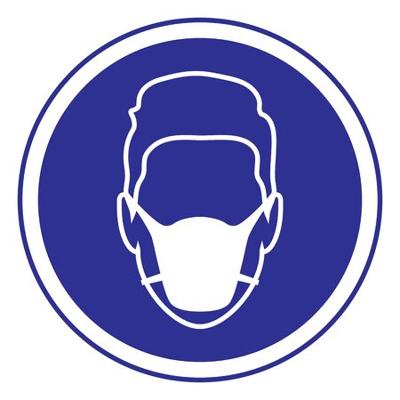 Sign Mandatory Use of Mask Vecteurs