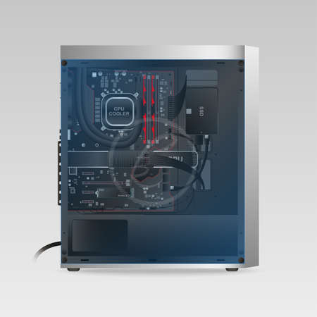Custom Gaming PC 向量圖像