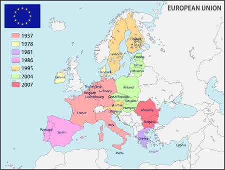 European Union Map 向量圖像