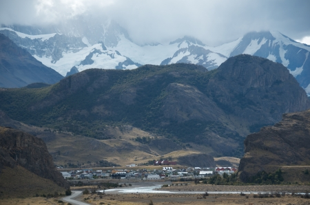 cerro chalten: Nested in the Andes Stock Photo