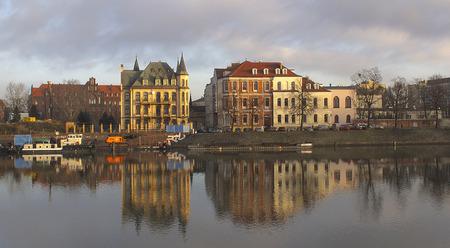 Polonia: Sunrise in Wroclaw Stock Photo