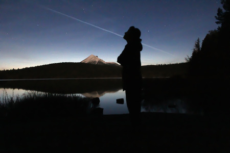 mount hood national forest: A Night at Lake of the Woods
