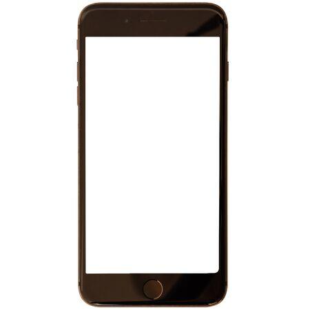 白い背景に隔離された現代のスマートフォン