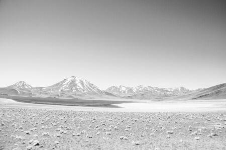 Abandoned Atacama Desert in black and white