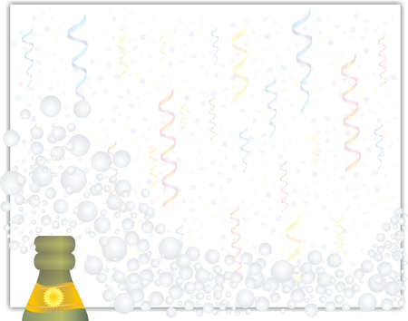 Celebration Background of a Champaign Bottle with Bubbles Stock Photo - 6597639