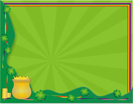 St Patrick's Day Background with a Rainbow photo