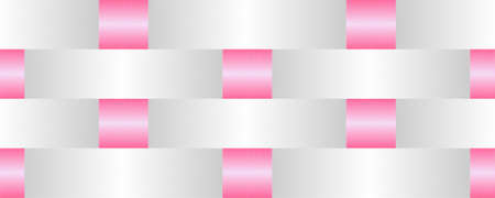 Seamless Basket Weave Background in White and Pink