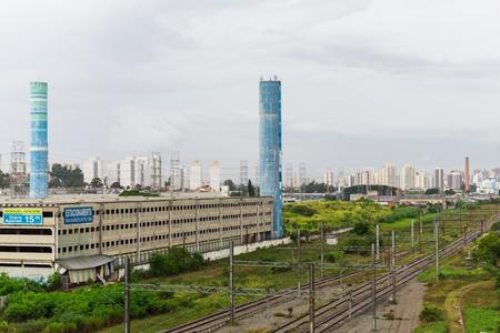 Central Plaza Shopping and Rails of Tamanduatei Train Station, Sao Paulo, Brazil
