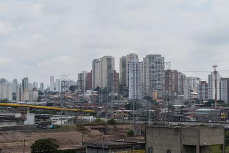 Aerial View of Sao Paulo, Brazil Stock Photo