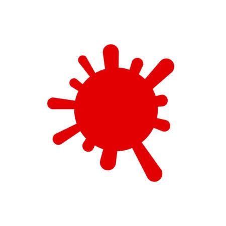 Vector illustration of the sign, emblem of the coronavirus infection quarantine, covid-19, pandemic Çizim