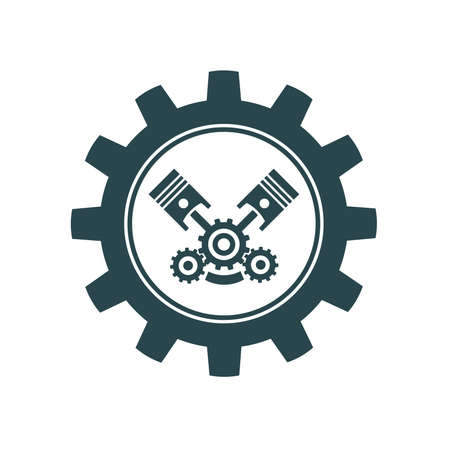 Vector illustration icons with car parts. Car service. Auto parts store.