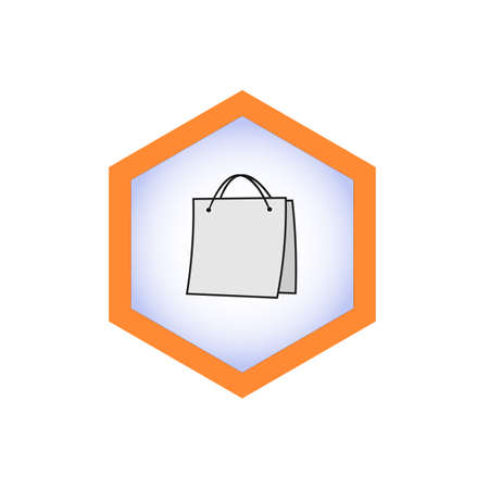 Vector illustration of an icon, logo, or bag icon.