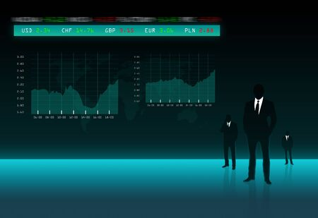 Business Stock Exchange with index and graph Stock Photo - 12898304