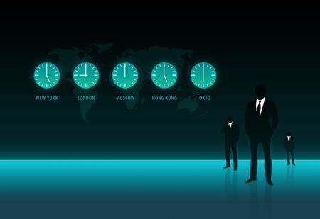 Business World Time in biggest cities Stock Photo - 12898302