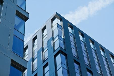 현대 건축의 은행 금융 오피스 타워 건물