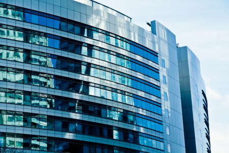 office building exterior: Modern architecture bank financial office tower building Editorial