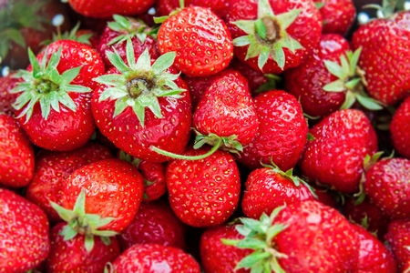 juicy: Red juicy and tasty organic strawberries backgground